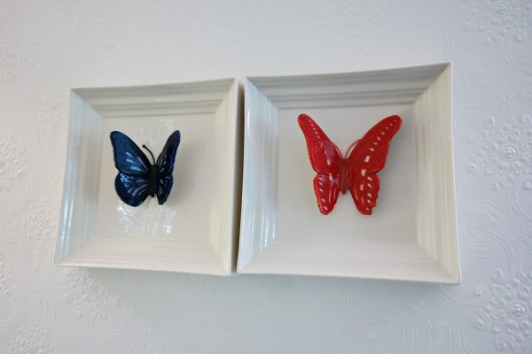 Le 34B hotel astotel paris 34 rue Bergere blue and red butterflies duplex room king size-bed booking french design photo usofparis blog