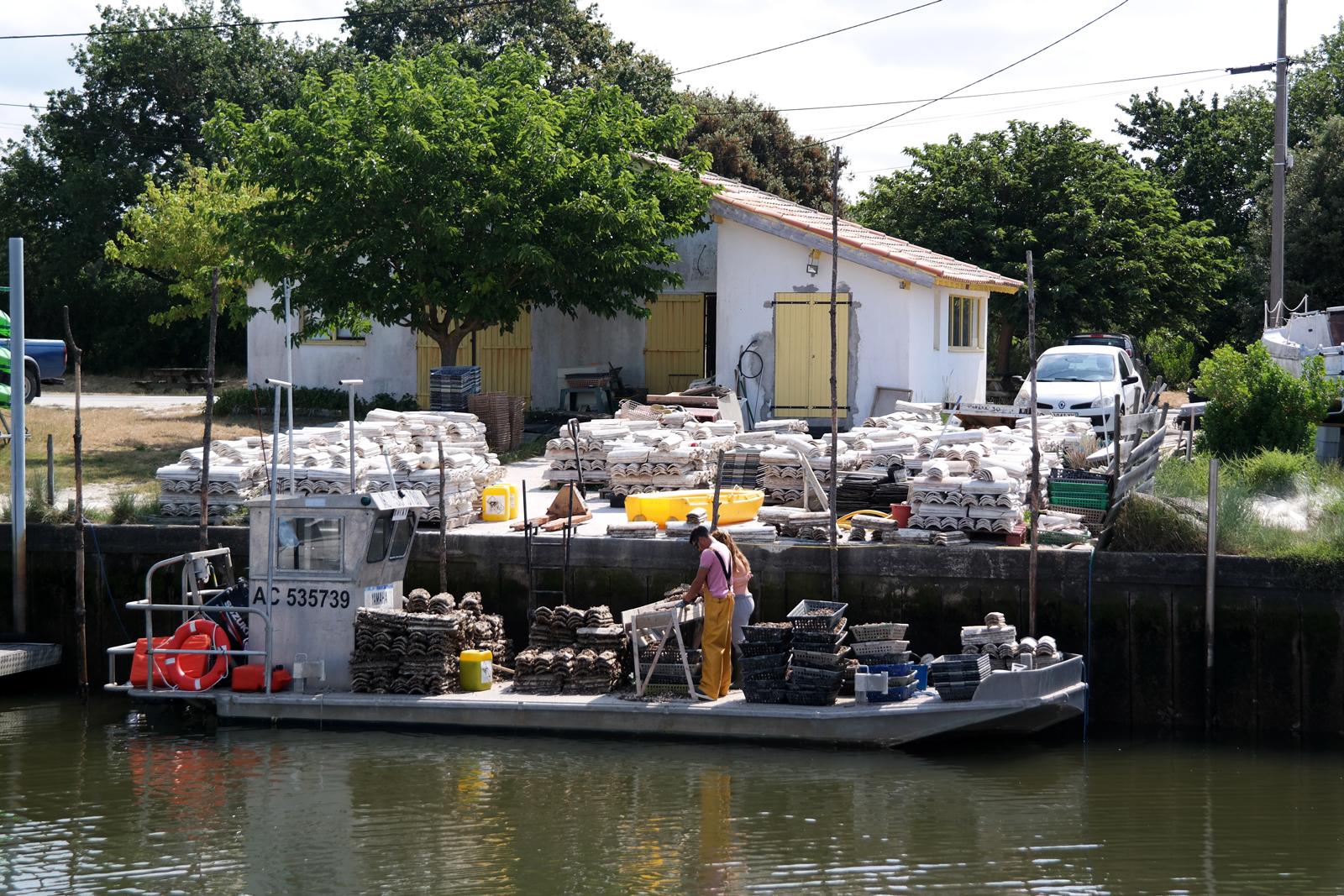 Bateau ostréiculteur Port d Arès Bassin d Arcachon sortie à la marée dégustation huitres vacances tourisme expérience photo usofparis blog