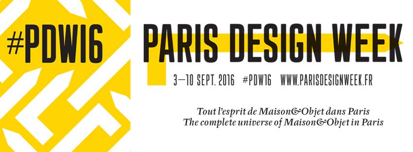 Affiche Paris Design Week 2016 affiche PDW16 Maison et Objet parcours exposition installation now le off