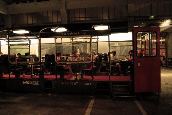 Grand train bar restauration Paris 18 rue ordener avis Ground control SNCF Photo by United States of Paris