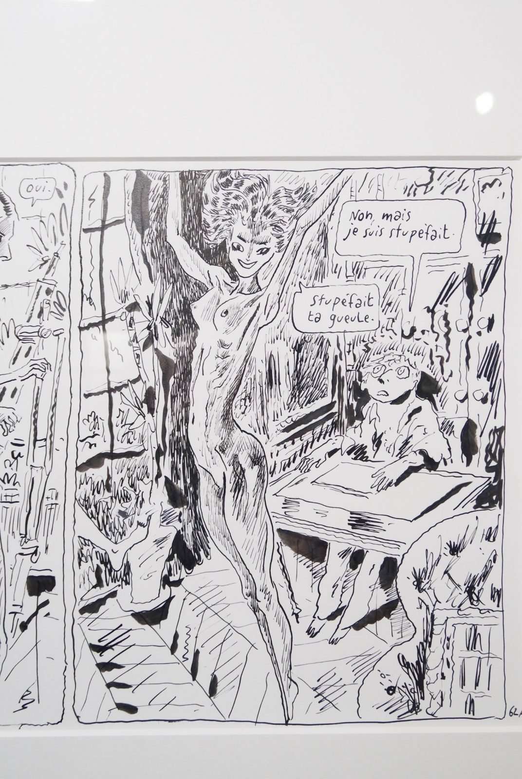 Stupéfait-Joann-Sfar-dessin-original-exposition-une-seconde-avant-l-éveil-fin-de-parenthèse-Espace-Dali-Paris-Montmartre