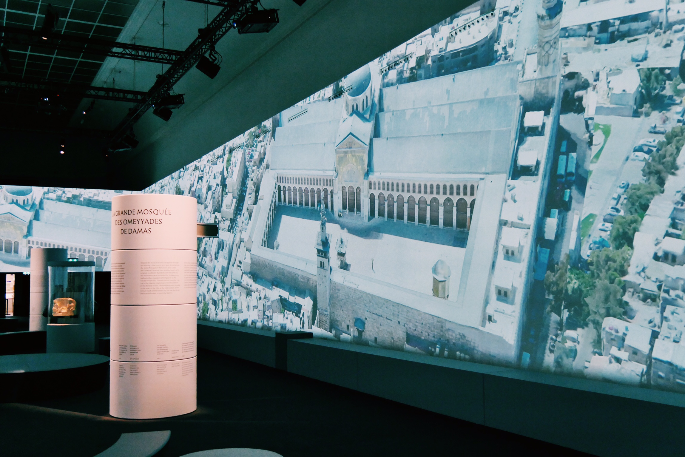 Exposition-Sites-éternels-Grand-Palais-Paris-projection-360-degrés-Grand-mosquée-des-Omeyyades-de-Damas-photo-usofparis-blog