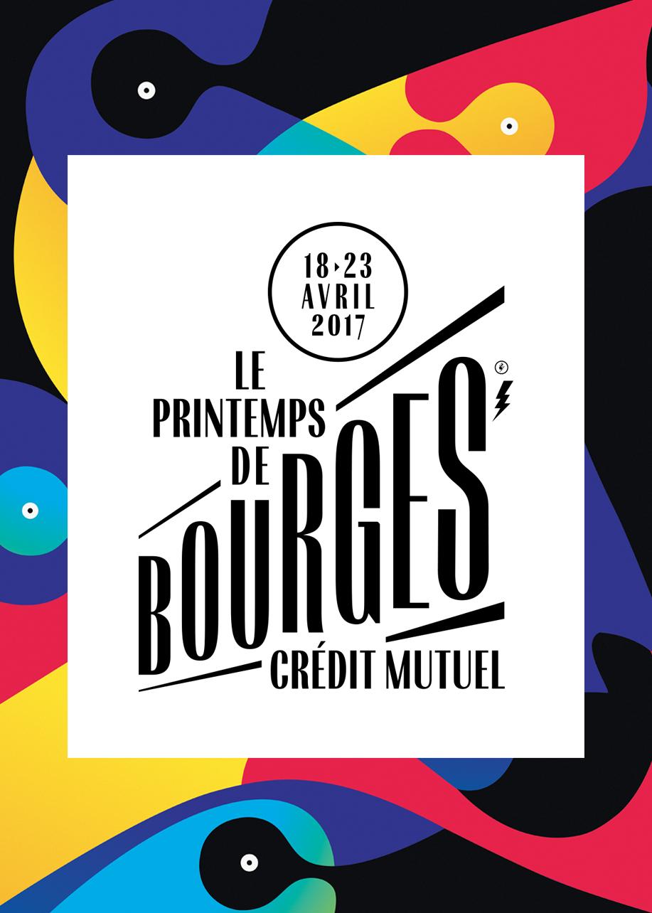Printemps de Bourges 2017 affiche officielle 41e édition festival musique programmation