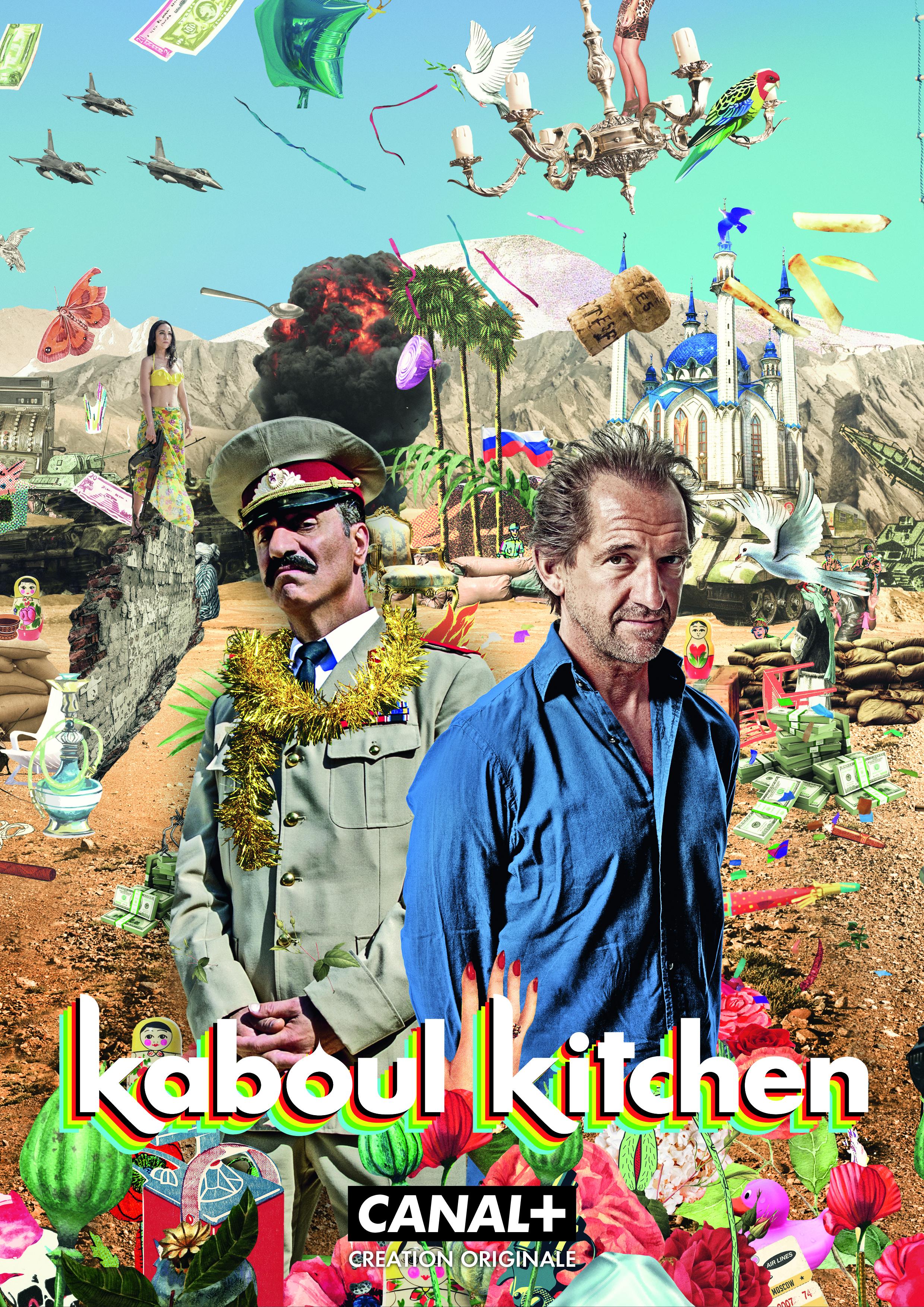 Kaboul Kitchen saison 3 avec Stéphane de Groodt Michel Coulaincourt et Simon Abkarian Colonel Amanullah série Canal Plus