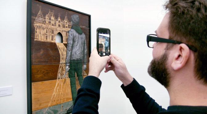 Levalet exposition Ellipses boisées à la Galerie Openspace