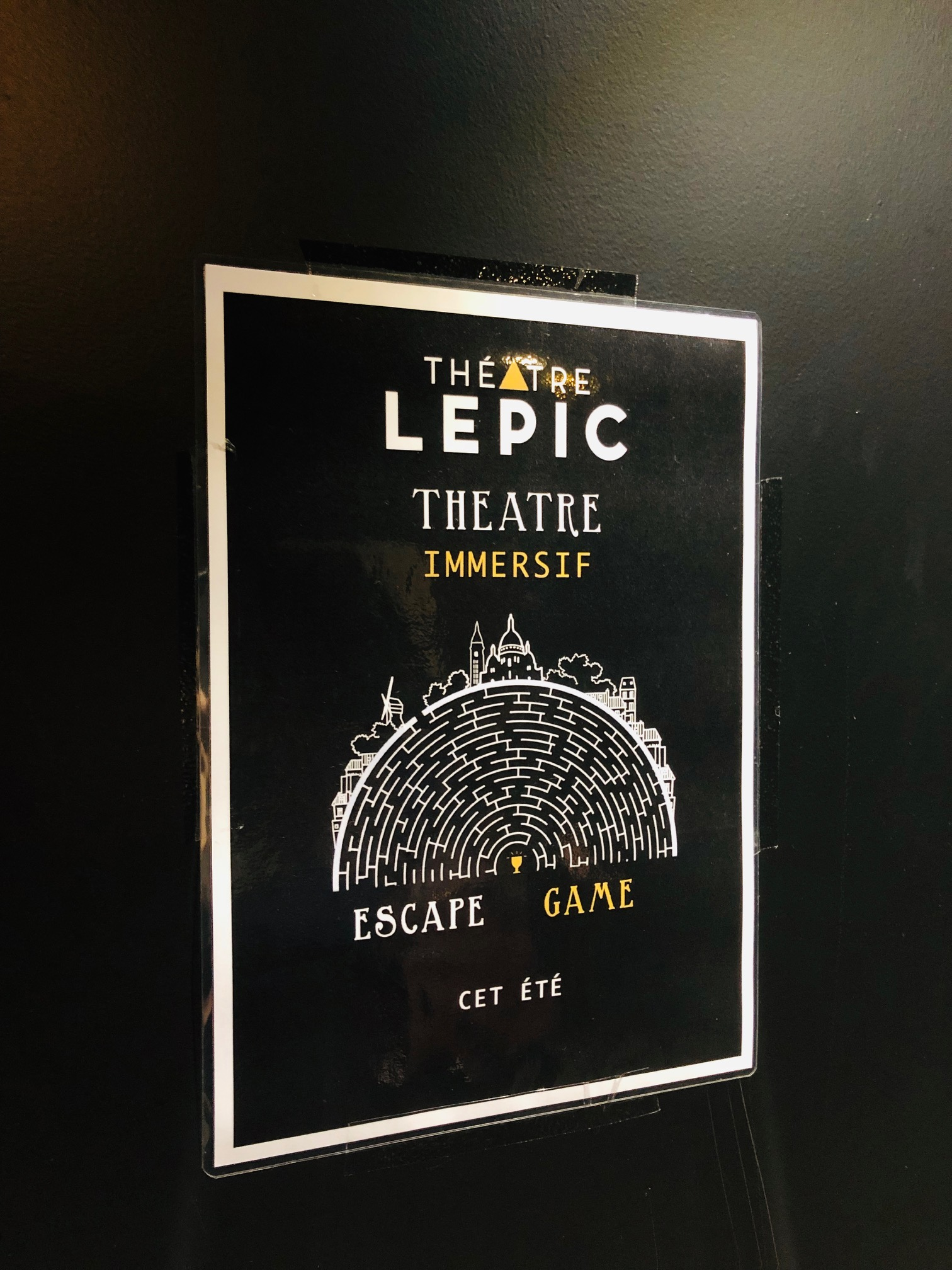 Escape game du Théâtre Lepic