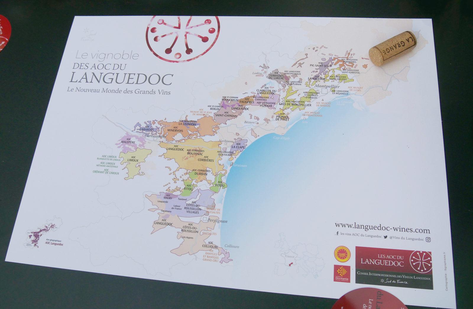 carte des vins du Languedoc